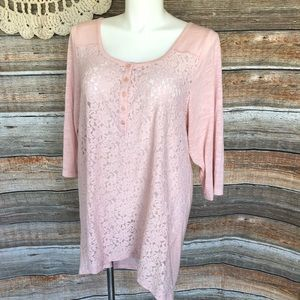 Torrid Baby Pink Lace Top